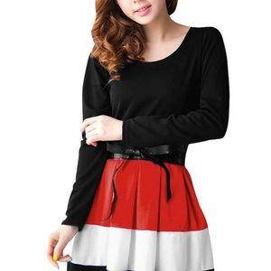 Allegra K Womens Dress Size XL (18) Black Red Long